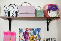 Tour Style Blogger Steffy Kuncmans Miami Apartment. Oh the spotted bag. Dear god.