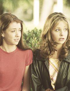 Alyson Hannigan + Sarah Michelle Gellar.