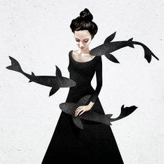 Ruben Ireland é um artista britânico que mistura ilustração, arte digital e manipulação de imagens, reconhecido pelo seu estilo sombrio - quase assustador.
