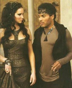Katniss and Cinna in Catching Fire.