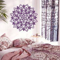 Wall Decal Mandala Moroccan Ornament Pattern Flower Namaste
