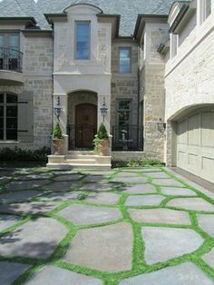Conservation Grass Joints - Eclectic - Landscape - Dallas - Conservation Grass