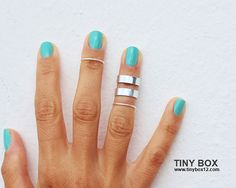 Stackable Midi Ring Silver Knuckle Ring Stackable by TinyBox12