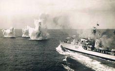 HMS Corunna, likely taken during an exercise.