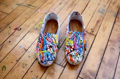Splatter paint shoes
