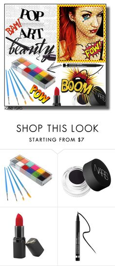 """""""Halloween Beauty"""" by heather-reaves ❤ liked on Polyvore featuring beauty, NARS Cosmetics, Barry M and Clinique"""