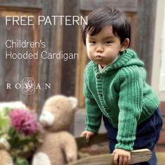 Free Pattern - Rowan Children's Hooded Cardigan