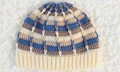 схема вязания шапки на мальчика