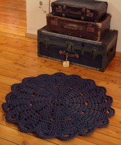 Doily rug  round area rug crochet 90cm/3ft by ihanitse on Etsy, €75.00