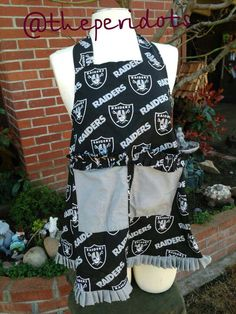 Raiders apron for women by theperidots on Etsy