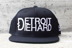 Detroit Diehard - Flat Bill Snap Back Hat by Ink Detroit #detroit #detroitdiehard #snapback #hat www.inkdetroit.com