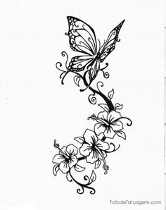 Imagem de Desenhos Para Tatuagem De Hibisco #14                                                                                                                                                                                 Mais