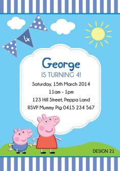 George Pig On Pinterest Peppa Pig George Pig Cake And