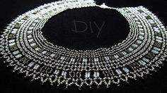 "Колье из бисера""Серебро"".Бисероплетение.Мастер класс.Necklaces of beads ..."