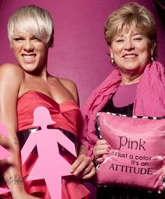 Performer, Pink raises awareness for cancer by promoting her Fighting Attitude campaign. Her name definitely helps the cause!