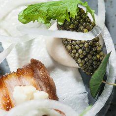 Vol.1 - pigs with pearls.  #Caviardinner #Frederikshøj #Aarhus #WassimHallal @christiangadient #Theartofplating #Chefsofinstagram #tatoo #Yummi #foodporn #foodgasm #Legend #foodiegram #instafood #chef #instaart #Pearls #caviar #summer #GoldSelection #lifeisbeautiful #foodart #rossinicaviar #foodpic #foodphoto #foodshoot #gastrogram #finedinning #gourmet #michelin #michelinchef  by @raisfoto by rossinicaviar