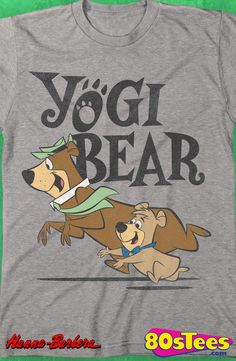 Yogi Bear T-Shirt: Yogi Bear Mens T-Shirt This ever popular Hannna Barbera celebrity cartoon bear was a contributor to the art of film, music and books.