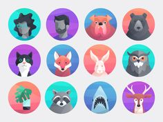I've been working with the Comcast team on developing some illustrations and these avatars were included in some of the products announced at CES.