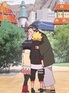 Boruto, Himawari and Hiashi - Boruto