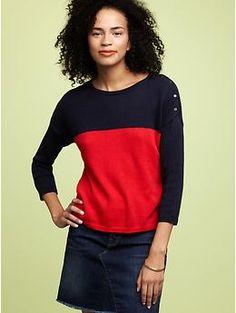 13720119daad6c Gap Colorblock Sweater  sweater  gap Skinny Wallet