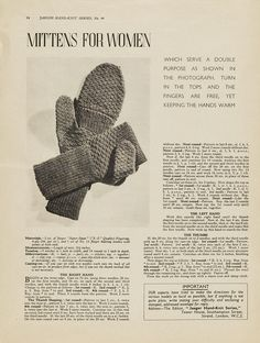 Maddie's Mittens (url from the bibliography of CODE NAME VERITY by Elizabeth Wein) 1940s Patterns to Knit | V    1940s Patterns to Knit | V