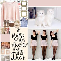 """It always seems impossible until it is done."" by sailorhoe ❤ liked on Polyvore"
