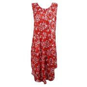Mogul Red Tie Dye Tank Dress Casual Sleeveless Summer Fashion Tunic Swing Beach Dresses Image 1 of 2    https://www.walmart.com/search/?cat_id=0&grid=true&query=mogul+interior+dress+#searchProductResult