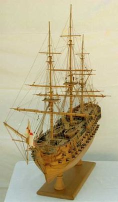 Ship model - English two-decker ship of the line of 1783