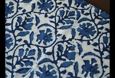 Indigo and White hand block print fabric.These fabrics are prepared for printing through a natural bleaching process and printed using traditional natural dye recipes. This is 100% cotton fabric...