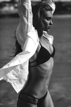 Tri Bikini et Classic Mens T-shirt par First Base Photos - Josie Clough Lingerie Editorial, Lingerie Shoot, Lingerie Models, Sexy Lingerie, Mini Bikini, Swimsuits, Bikinis, Swimwear, Beachwear