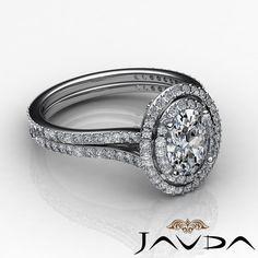 Halo Set Oval Diamond Engagement Vintage Style Ring GIA G VS2 18K White Gold 3ct | eBay