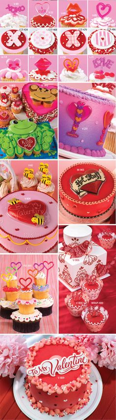 valentine-collage Cupcake Decorations, Network Solutions, Business Profile, Cute Cupcakes, Bakery Cakes, Creative Cakes, Cute Food, Cup Cakes, Cakes And More