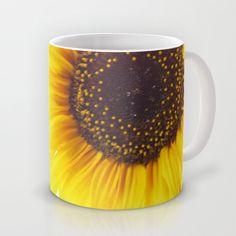 Three Sunflowers  Mug by Tanja Riedel - $16.00