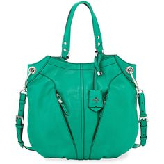 Oryany Victoria Leather Tote Bag (12,440 THB) ❤ liked on Polyvore featuring bags, handbags, tote bags, grass, handbag tote, tote handbags, green leather tote, green tote and tote purses