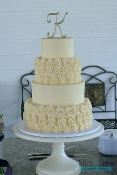 Buttercream Rosettes and Rustic Buttercream