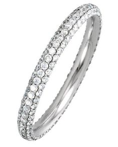 the ring holds approximately 153 diamond in size with diamond total weight of The diamonds are graded as SI in clarity, G-H in color. Eternity Ring Diamond, Diamond Wedding Rings, Eternity Bands, Diamond Rings, Wedding Bands, Diamond Bracelets, Bangles, Anniversary Bands, White Gold Diamonds