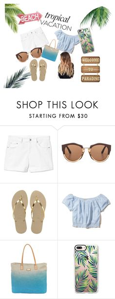 """""""Tropical Vacation"""" by kynaahmed on Polyvore featuring Gap, Marni, Havaianas, Hollister Co., Sun N' Sand, Casetify, Summer, tropical, summerstyle and TropicalVacation"""