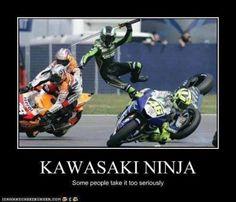 Lol - Lustig humor - - Ellise M. Motos Kawasaki, Kawasaki Ninja, Funny Animal Memes, Funny Memes, Dirt Bike Quotes, Bike Humor, Motorcycle Memes, Motorcycle Bike, Funny Accidents