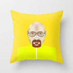 Bryan Cranston Throw Pillow by Matteo Lotti - $20.00