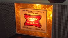 Vintage Illuminated Advertising Sign With Original Box