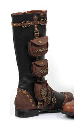 "steampunksteampunk: ""Ladies Steampunk Gypsy Boho Boots…"