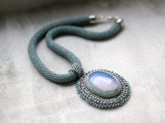 Elvish Necklace Opal Necklace Turquoise by HeriniasJewelryChest, $75.00