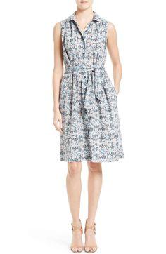Main Image - La Vie Rebecca Taylor Floraison Shirtdress