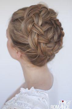 Hair Romance - high Dutch crown braid hairstyle #wedding #bridal #everyday