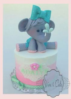 Girly elephant cake