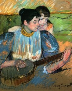 The Banjo Lesson; Mary Cassatt 1894