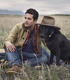 John Mayer outside with a dog. Would love a shot like this with my own dog if possible. John Mayer Concert, Mark Foster, John Boy, John Clayton, Drew Scott, Christina Perri, Edward Scissorhands, Derek Hough, Hollywood