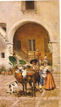 Spanish Painters, Spanish Artists, Latino Americano, European Paintings, Great Paintings, Cultural, Illustrations, Old Houses, Art Boards