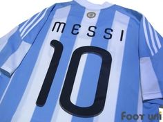 """Argentina 2010 Home Messi #10"" Vintage Soccer Jerseys Footuni online shop. 「Argentina 2010 Home Messi #10 South African World Cup model Official marking adidas National Soccer team」page. Products offered are abundant according to an age in a classic football shirts. It is introduction at simple and convenient prices, such as an age, player supplies, etc. of a Soccer Jerseys with acquisition difficult in others."