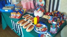 All-Star Sports birthday theme, with concession stand